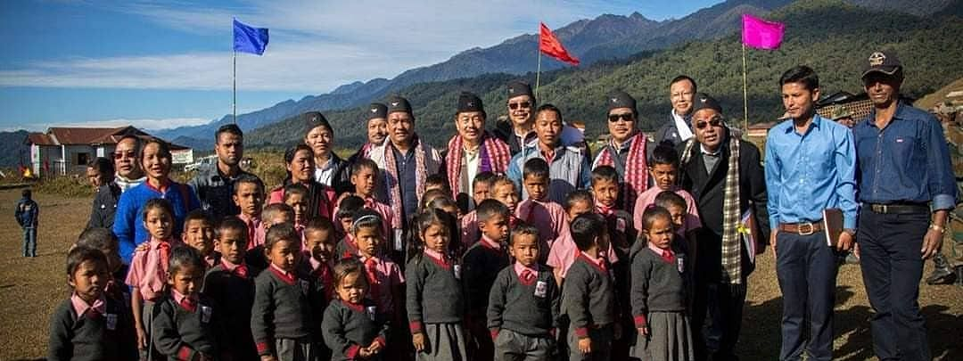 Arunachal Pradesh CM Pema Khandu with the Gorkha community in Changlang district