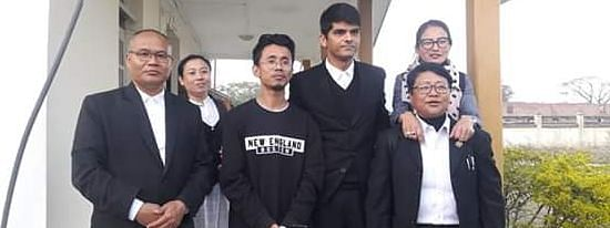 Veewon Thokchom after being granted bail by the CJM court