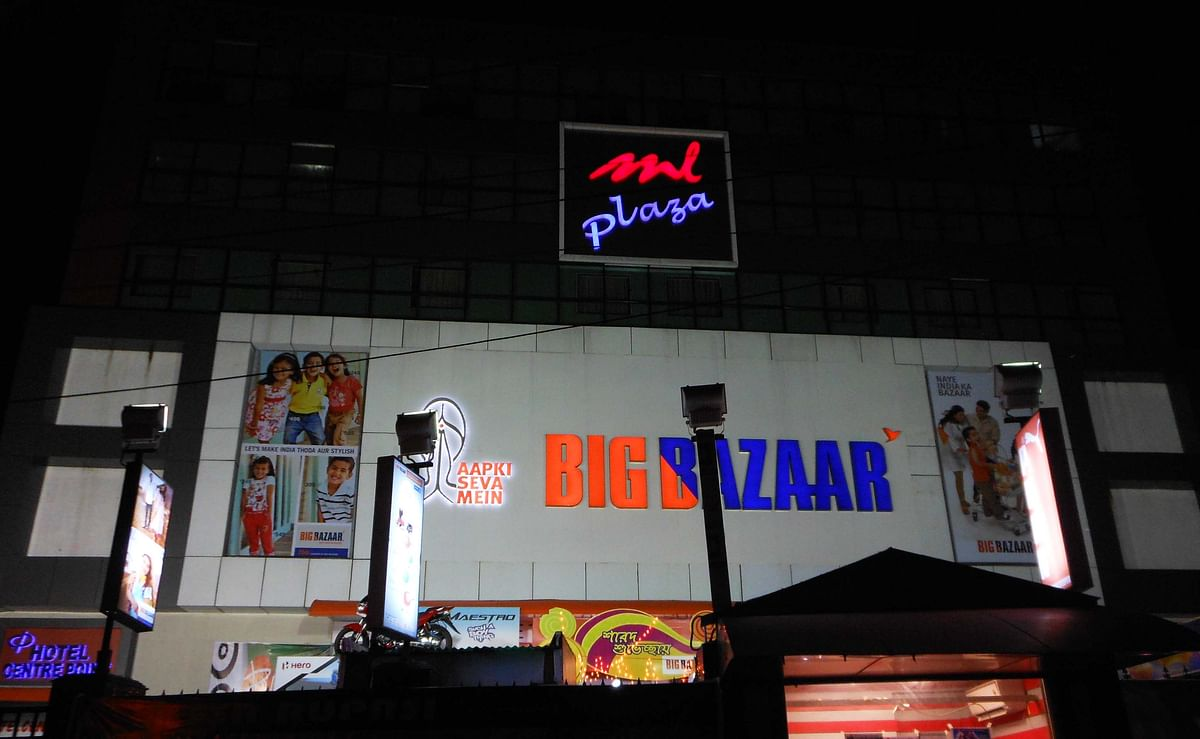 The ML Plaza Shopping Complex is one of the largest commercial markets in Agartala.