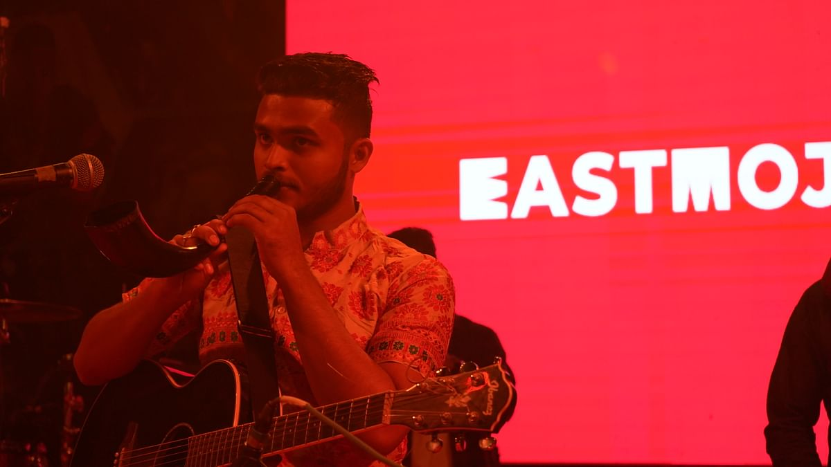 A finalist of the EastMojo '60 Seconds of Fame' contest performing at Pyrotechnix as part of Assam Engineering College's annual fest Pyrokinesis