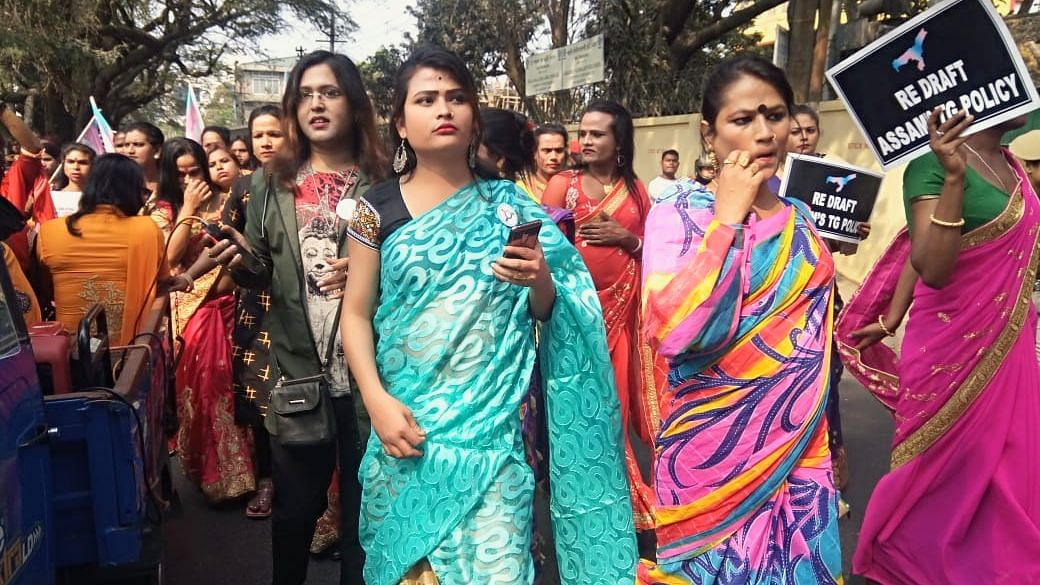 A protest rally was carried out at Guwahati by the All Assam Transgender Association on February 19 opposing the Transgender Persons (Protection of Rights) Bill, 2018