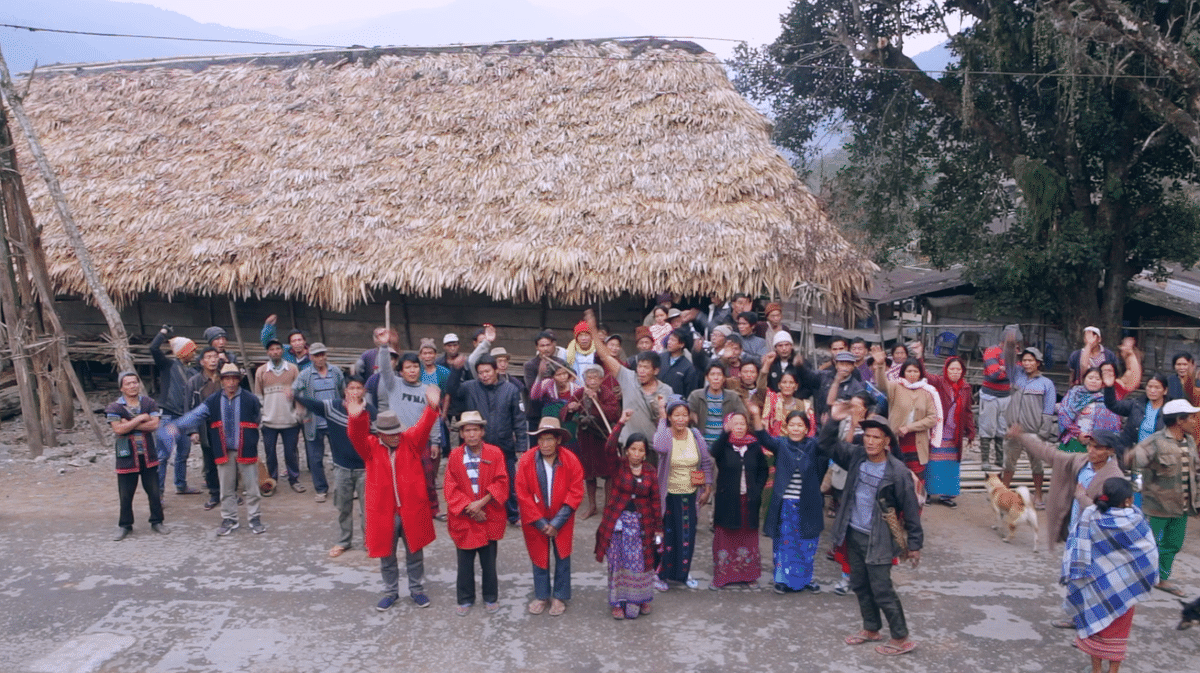 Protest carried out by villagers residing beside Siang river is a regular affair