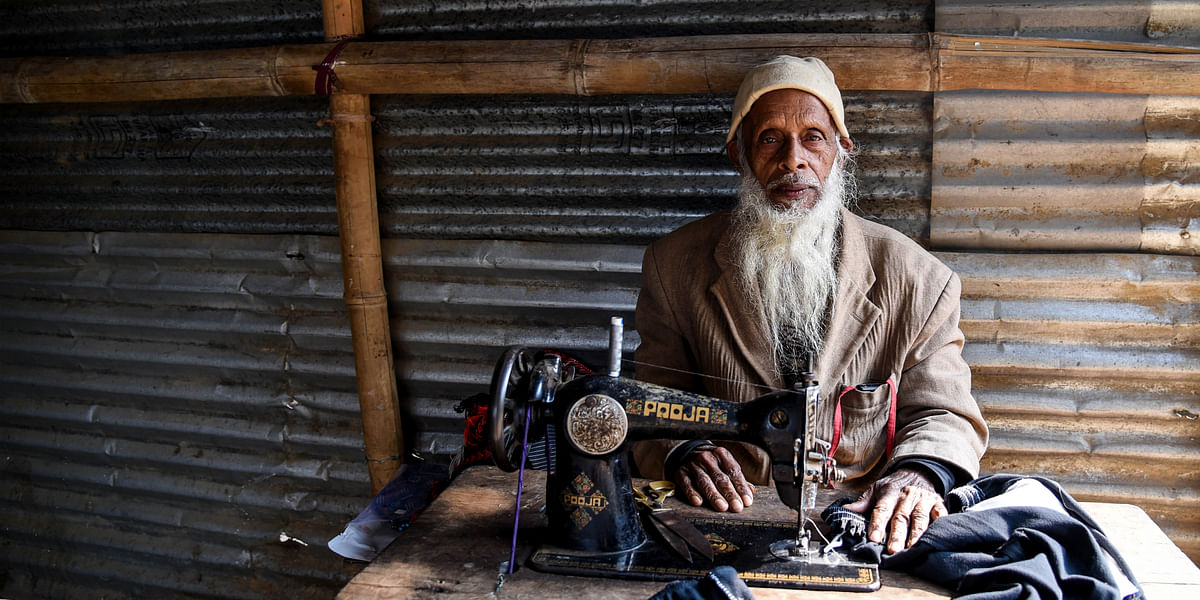 Monoruddin Miya (84), a resident of Yusuf Nagar near Guwahati in Assam. His family had been reportedly living here since prior to India's independence