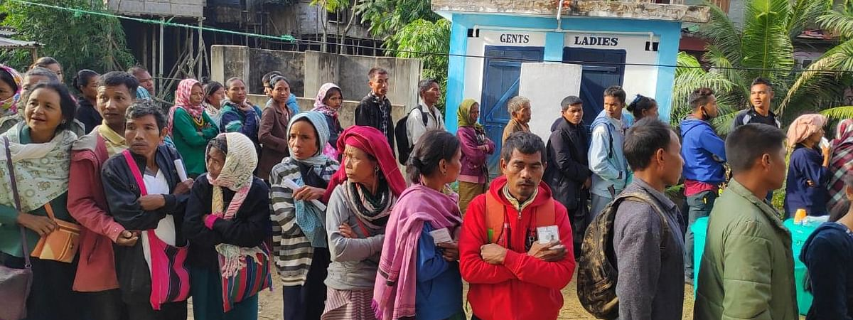 Bru refugees from Tripura casting their voters during the Mizoram assembly elections on November 28 last year