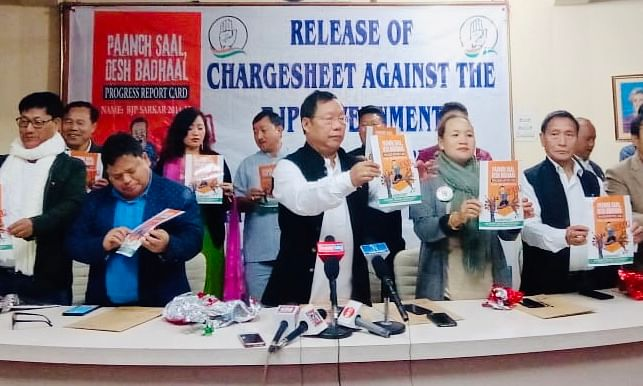 Arunachal Cong releases 38-point 'charge sheet' against BJP govt