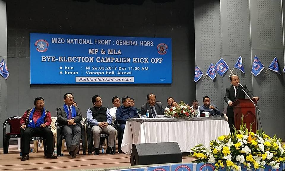 Mizoram: Ruling MNF launches campaign for elections
