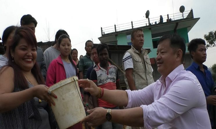 Arunachal BJP leader unveils potable water project that he funded