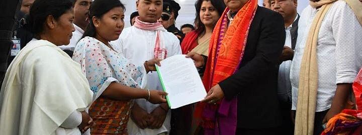 Assam chief minister hands over appointment letter to CRPF's martyr Maneswar Basumatary's daughter