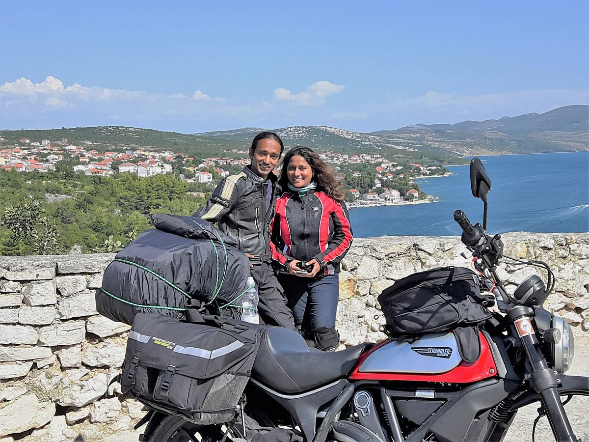 Around Europe in 100 Days: Assam couple cover 18 nations on bike