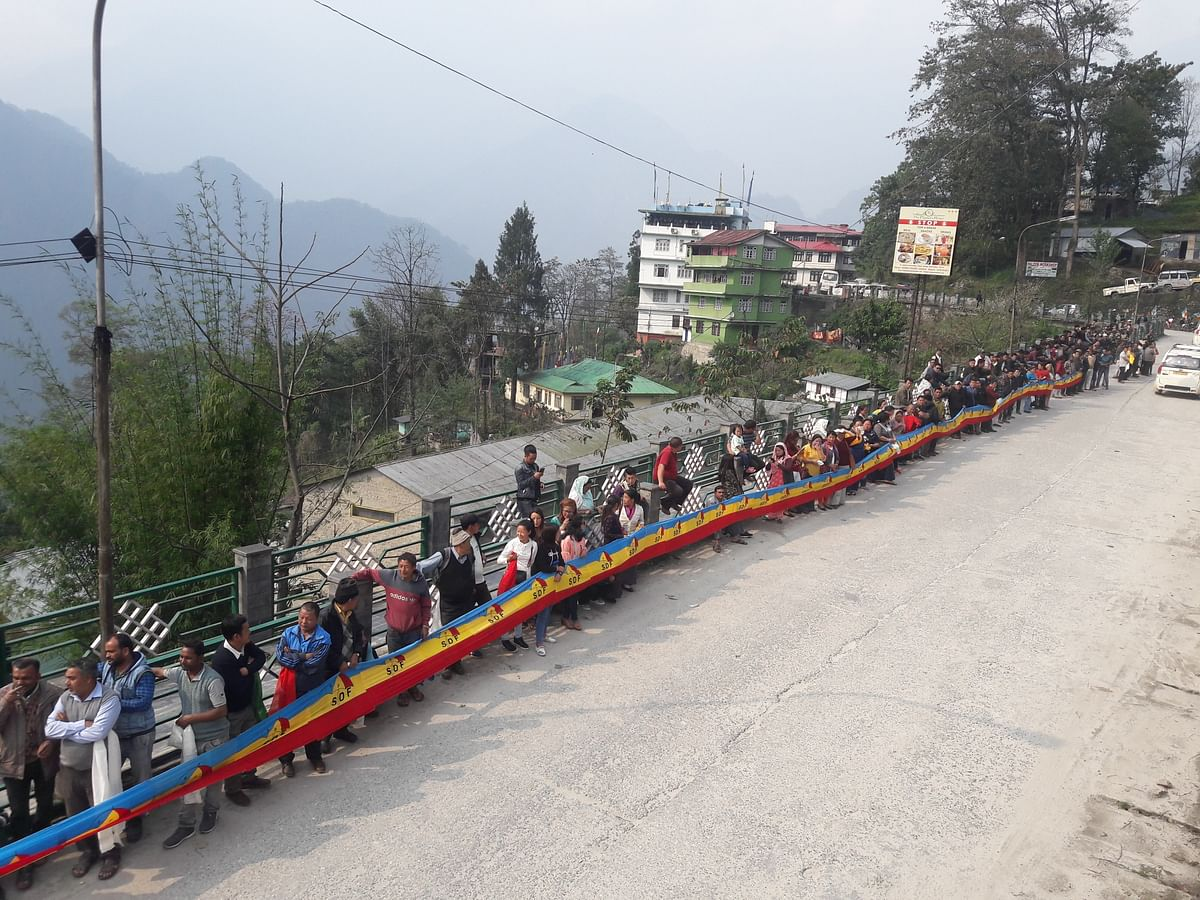 Candidates, both from the ruling Sikkim Democratic Front (SDF) and opposition Sikkim Krantikari Morcha (SKM), started their election campaign on Saturday afternoon
