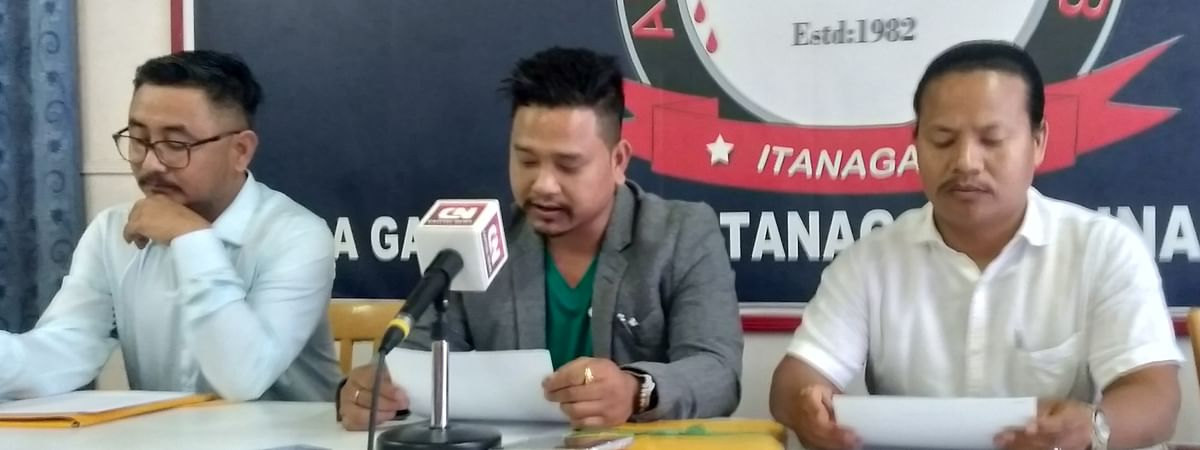 Film Federation of Arunachal general secretary Shambo Flago addressing media persons in Itanagar