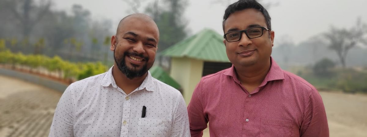 Arohan Foods co-founders Arindom Hazarika and Anabil Goswami