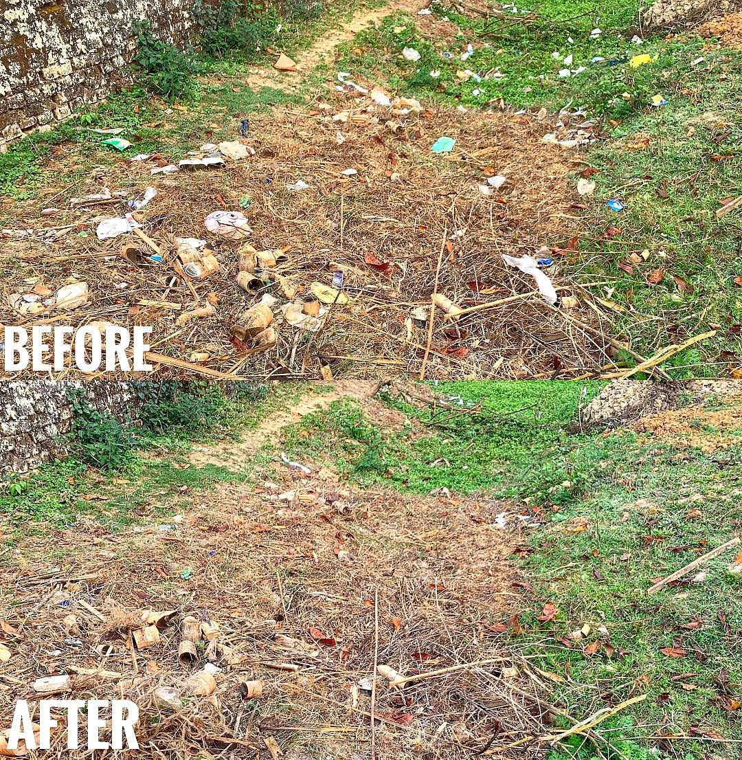 17-year-old Raikom Enghi of Diphu in Assam took to Facebook<i> </i>to share several 'before-after' images of Taralangso as part of the #Trashtag Challenge&nbsp;