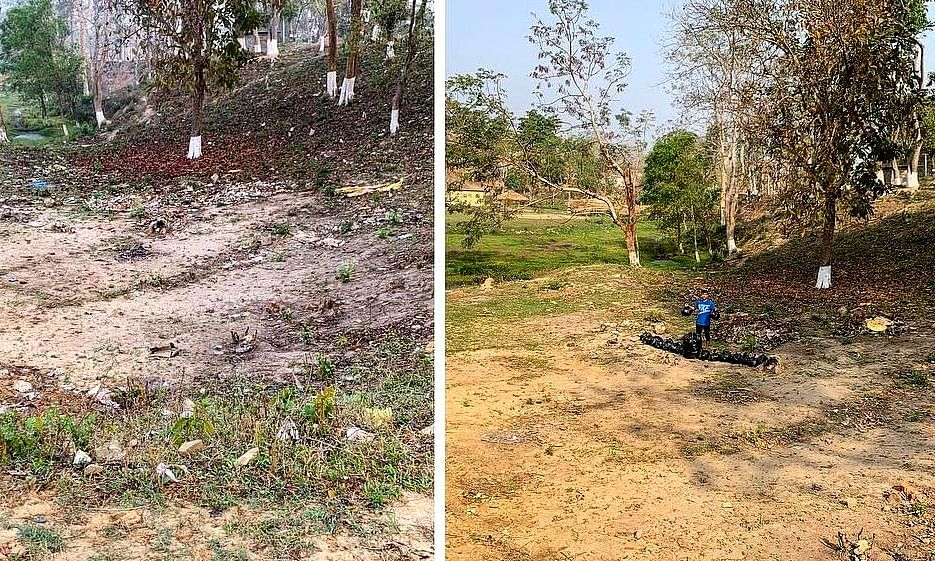 Assam boy takes up #Trashtag Challenge to clean fest venue alone