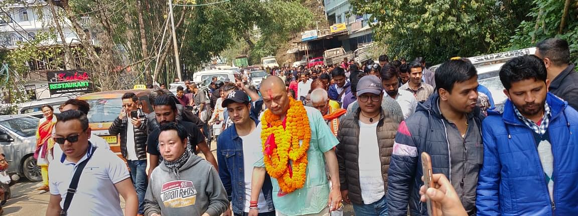Party workers take out massive protest rally across Arithang constituency