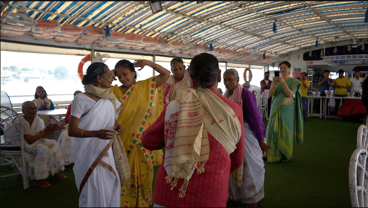 The <i>aitas </i>(grandmothers) were seen grooving to foot-tapping Bihu numbers aboard Alfresco Grand on Friday