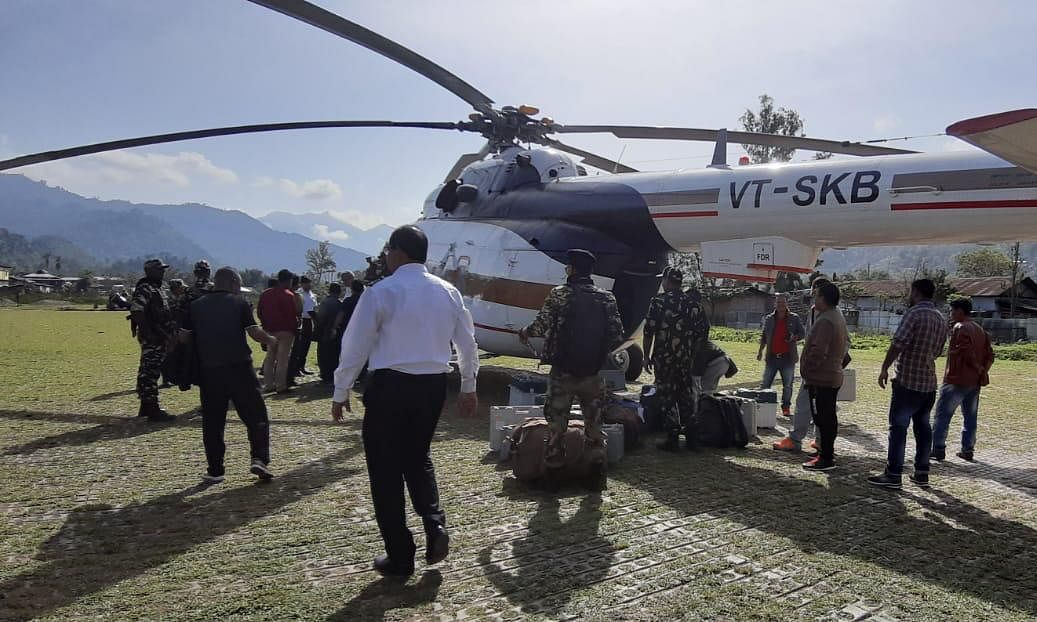 Polling officials airlifted to remote parts of Arunachal yet again