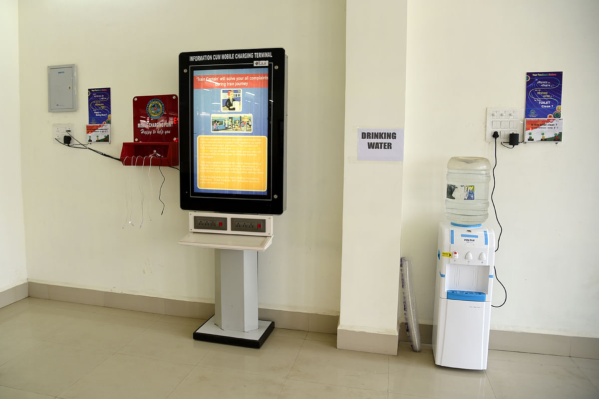 Digital display system, mobile charging points and provision for free drinking water  are some of the facilities being offered at the new waiting hall in Kamakhya railway station