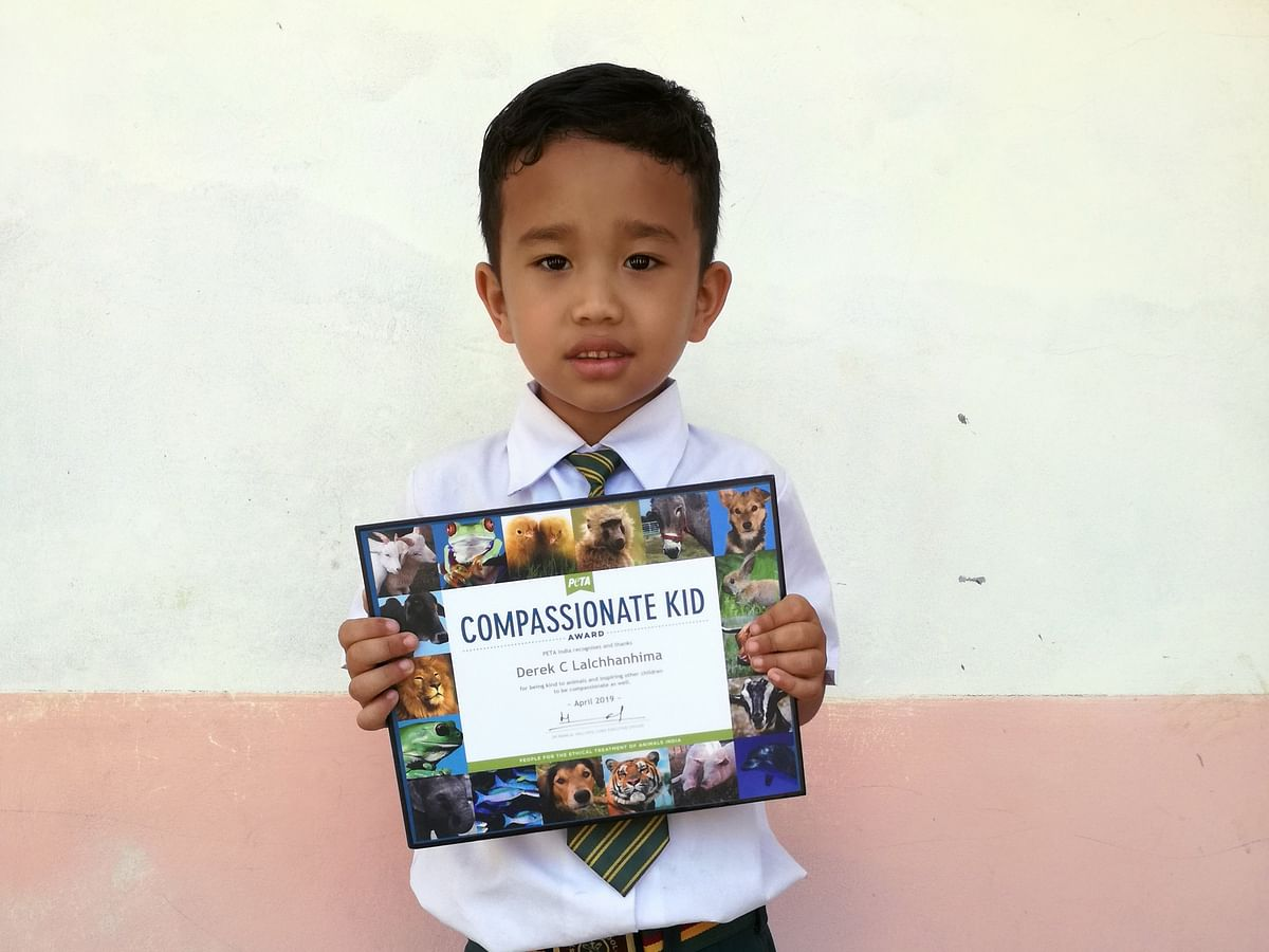 Mizoram boy gets PETA India's 'Compassionate Kid' Award