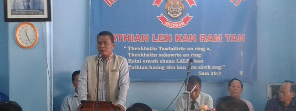 Mizo National Front (MNF) leaders were addressing media persons on Monday.