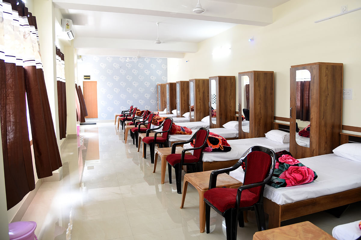 10-bedded dormitories each for women and men with TV set, Wi-Fi  and AC have been constructed