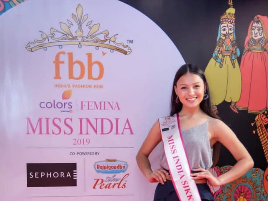 19-year-old Sang Doma crowned Femina Miss India Sikkim 2019