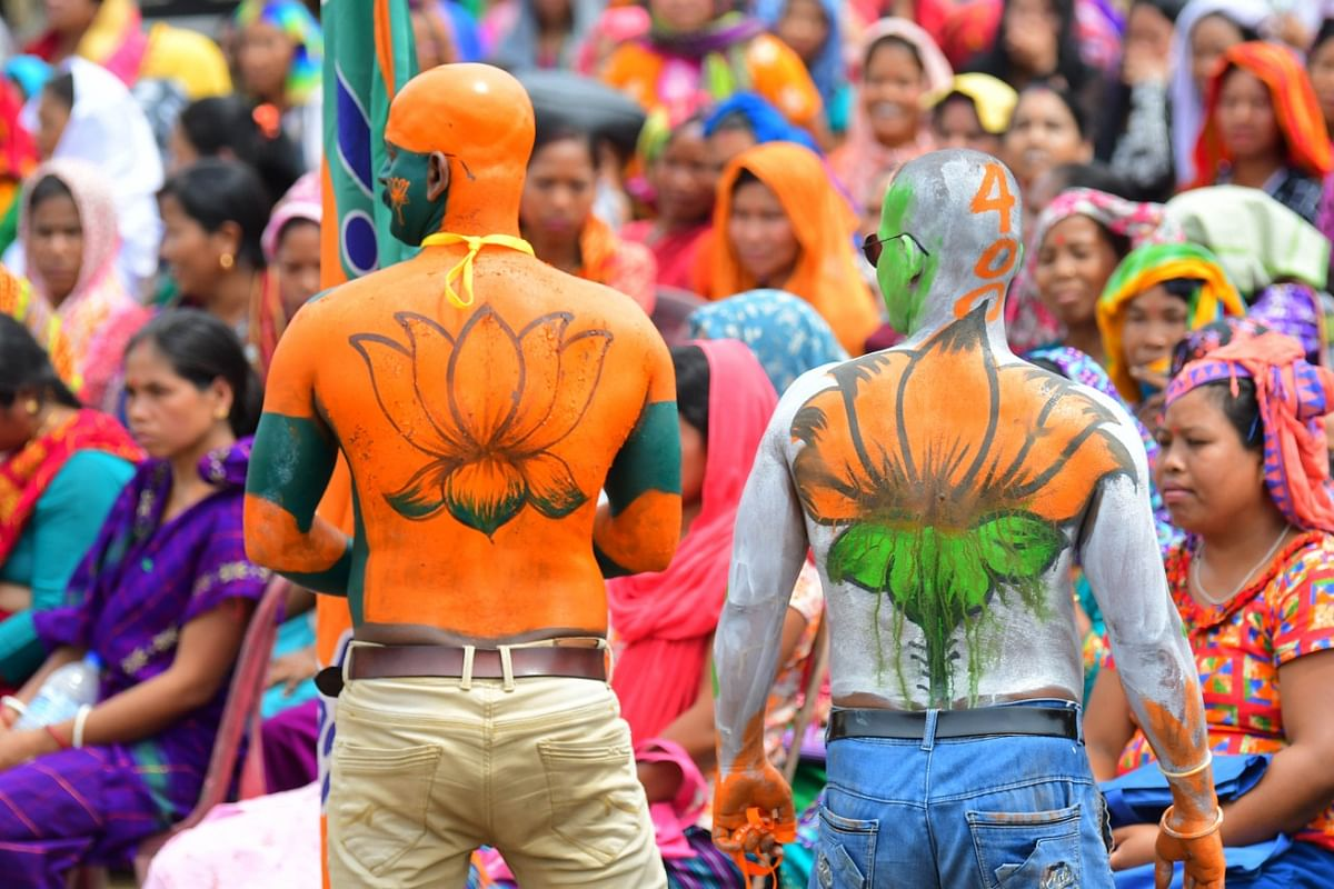 Thousands gathered from all eight districts of the state to welcome PM Narendra Modi in Udaipur in Tripura's Gomati district on Sunday