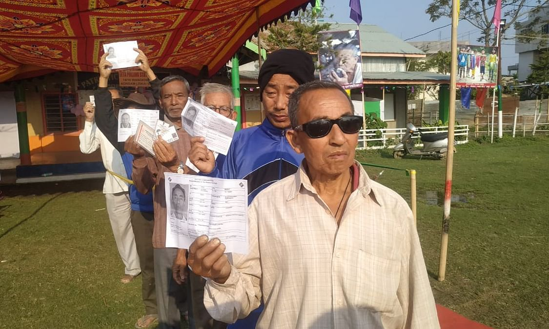 Early voters queue up for second phase of LS elections in Manipur