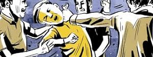 Scuffle broke out between BJP and Congress supporters at around 6 pm in Thoubal district of Manipur on Thursday.