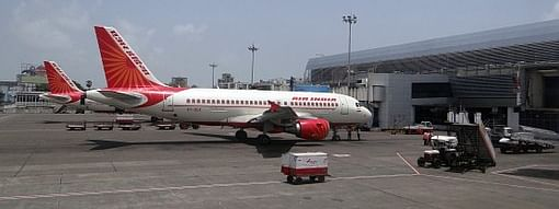 The national carrier's special ferry flight took off from New Delhi on Saturday afternoon