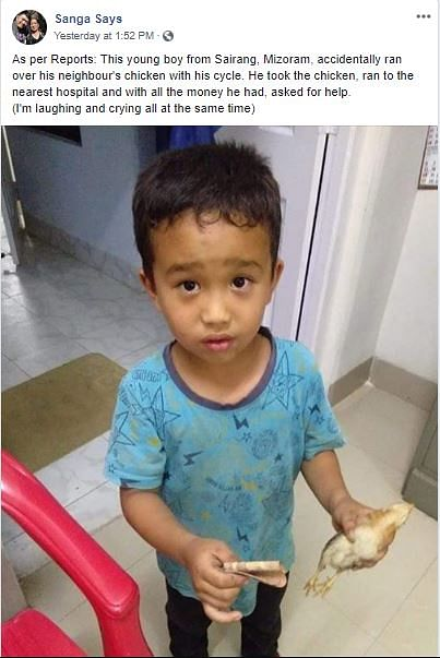 The laudable deed of the little boy has gone viral on social media