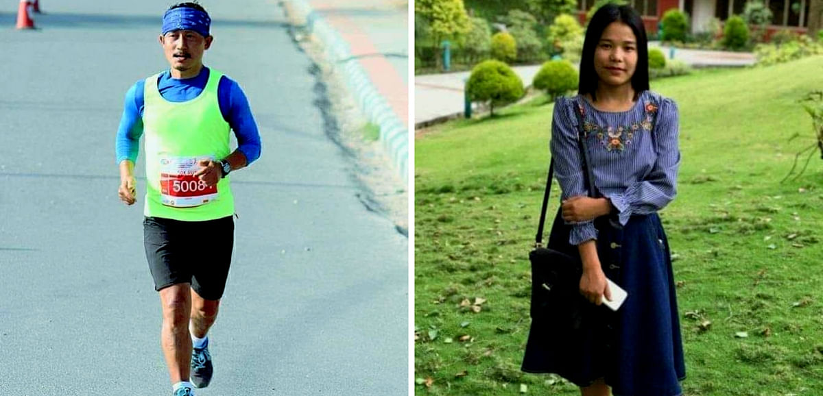 Sikkim's 'Marathon Man' Amar Subba (left) came out in support of cancer patient Bandana Subba on Sunday
