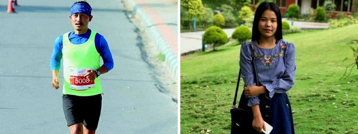 Sikkim's 'Marathon Man' Amar Subba (left) will run for cancer patient Bandana Subba on May 5