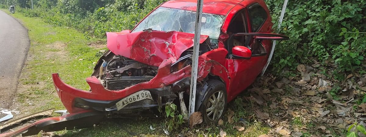 The incident happened when the car that the family was travelling in rammed into a Tempo Traveller at Burapahar area of Nagaon district
