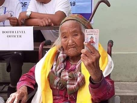 105, not out! Sikkim's oldest voter casts her vote
