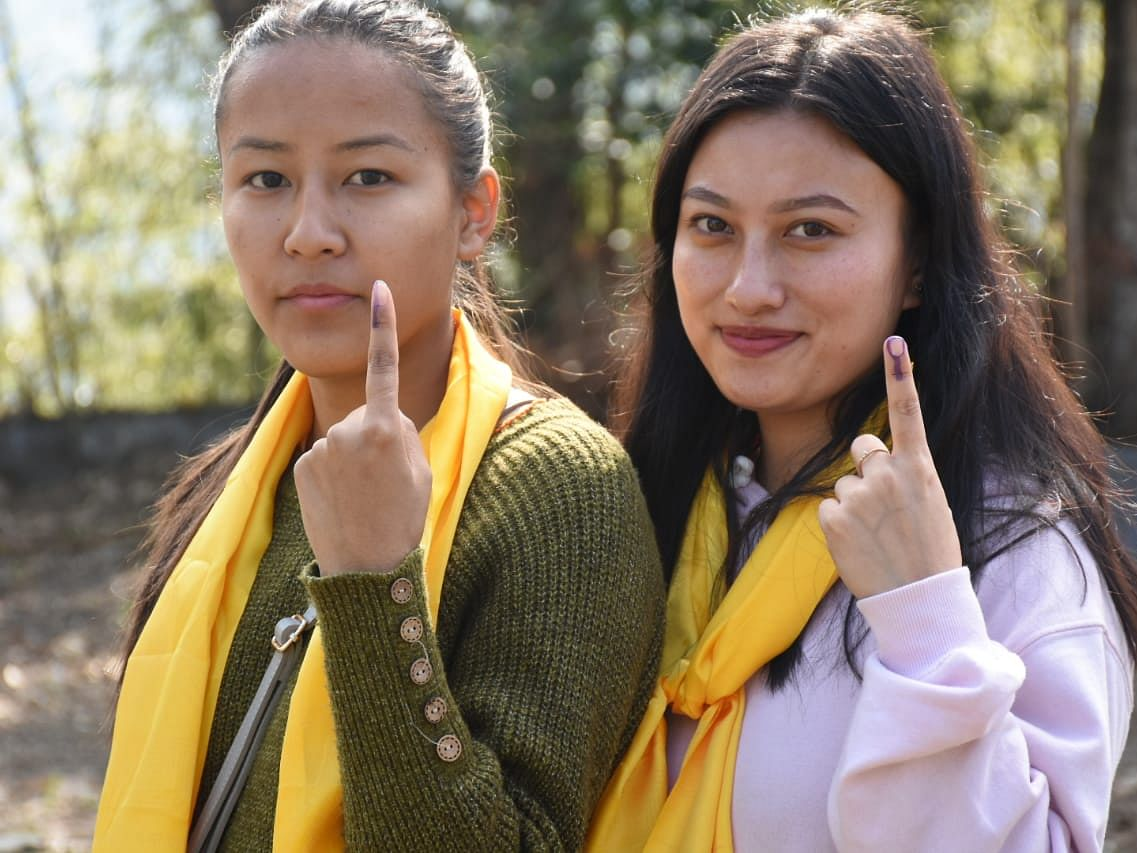 First-time voters get inked in South Sikkim