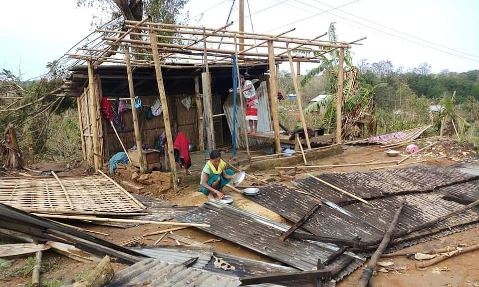 Tripura: 6,000 take shelter in relief camps as storm hits state