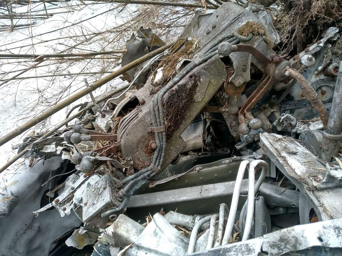 The Army patrol moved cross-country for 30 km through thick jungles and snow-covered areas for eight days to trace out the wreckage