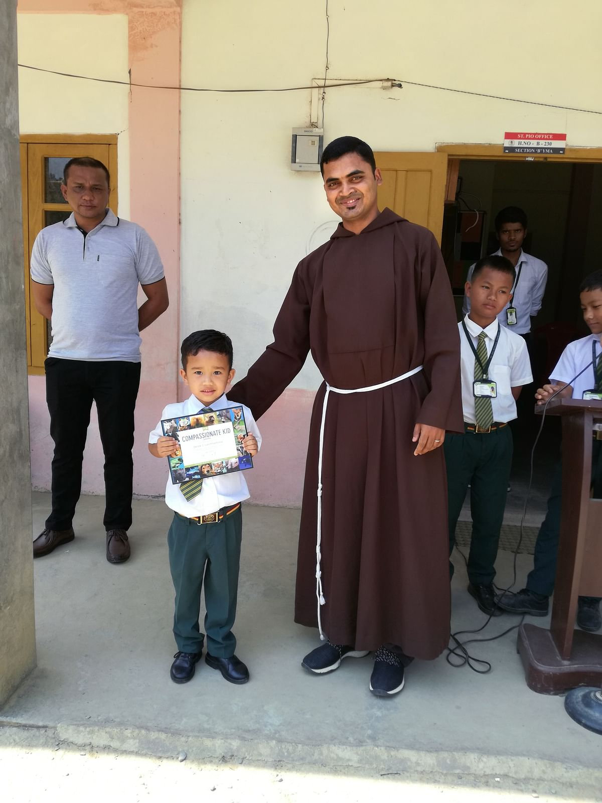Mizoram kid Derek C Lalchhanhima at his school in Sairang