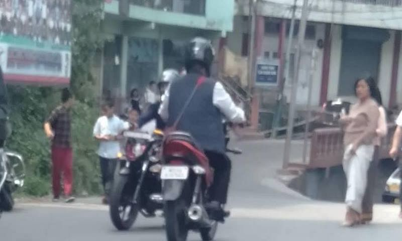 Man on the bike: That's the deputy speaker of Mizoram assembly!