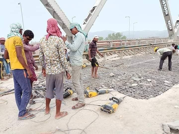 The old Saraighat Bridge is currently closed for repair work