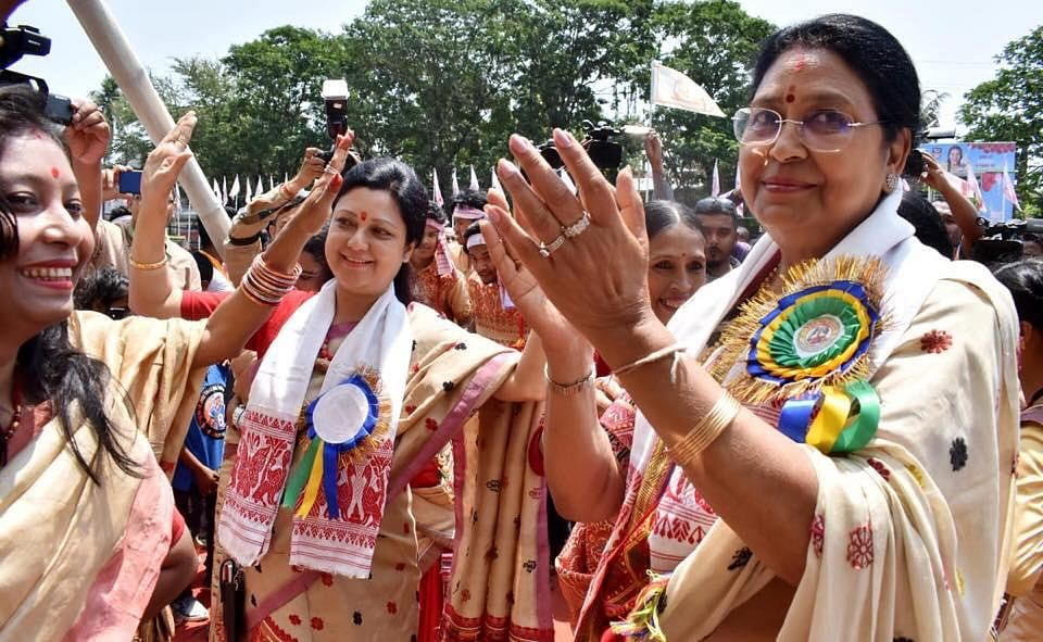 Independent candidate Upamanyu Hazarika during an election campaign in Guwahati