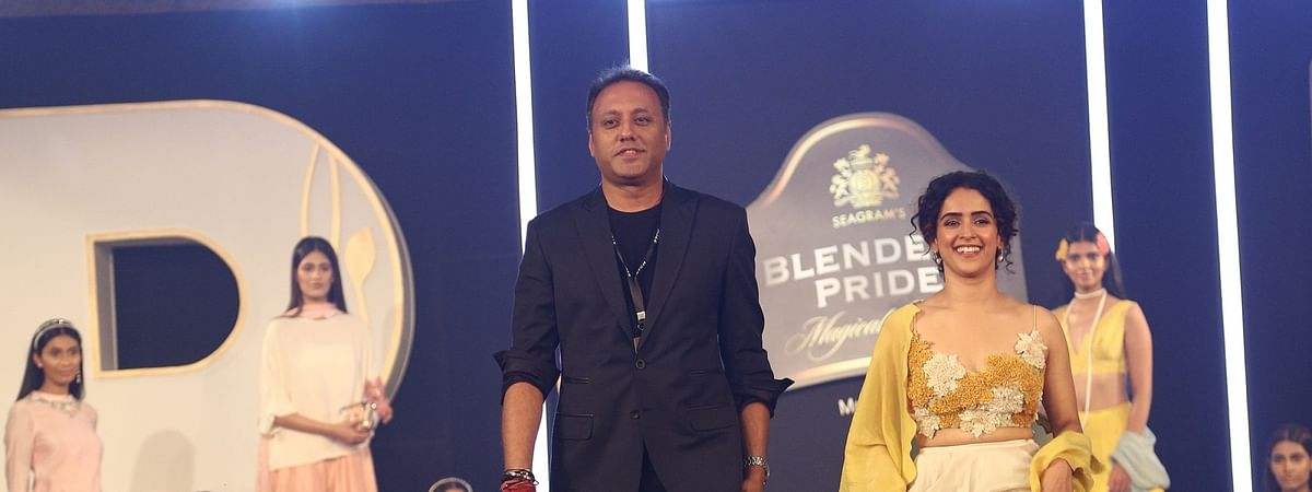 Designer Varun Bahl and showstopper Sanya Malhotra at Blenders Pride Magical Nights 2019 in Guwahati, Assam on Friday
