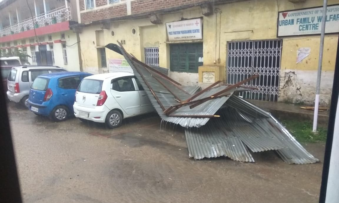Manipur: Storm claims 3 lives, destroys several houses