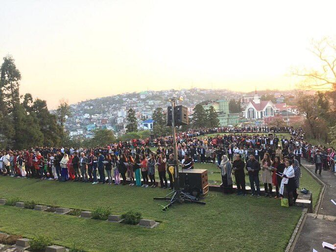 Nagaland celebrated Easter at the World War-II Cemetery in Kohima on Sunday