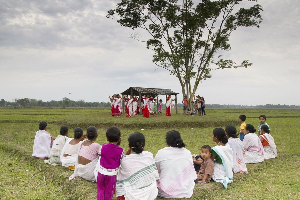The tradition of Bihu deals with practices related to cultivating the land and raising livestock