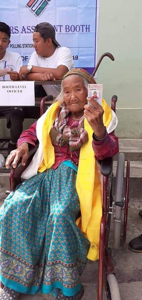 At 105 years, Sumitra Rai is said to be the oldest voter in Sikkim