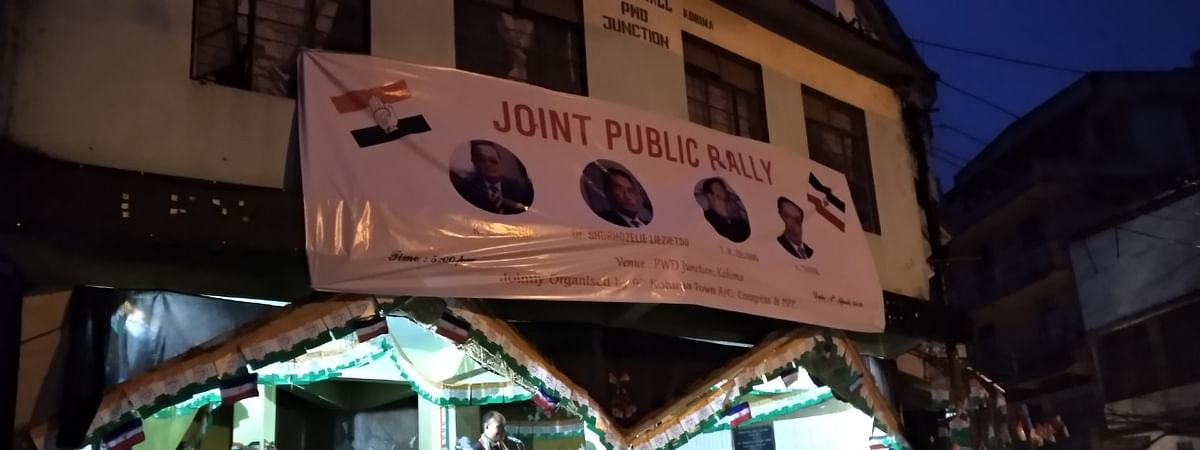NPP and Congress organised a joint public rally late on Monday evening