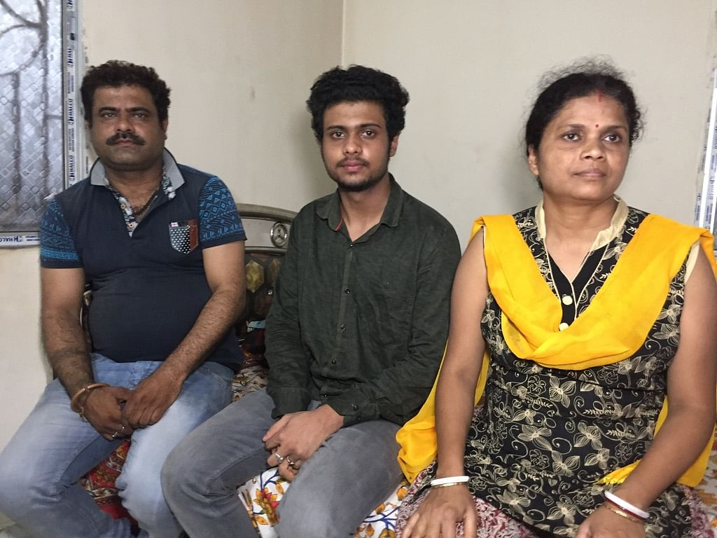 Tanmay with his parents in Guwahati