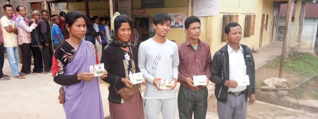 Early voter from a rural polling station under Meghalaya's Shillong constituency got EC's first to vote medals.